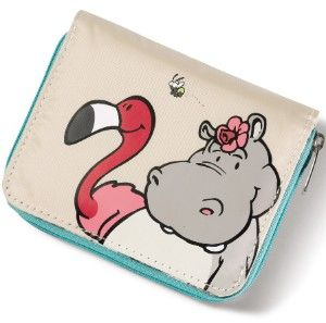 Porte-monnaie hippopotame et flamant rose