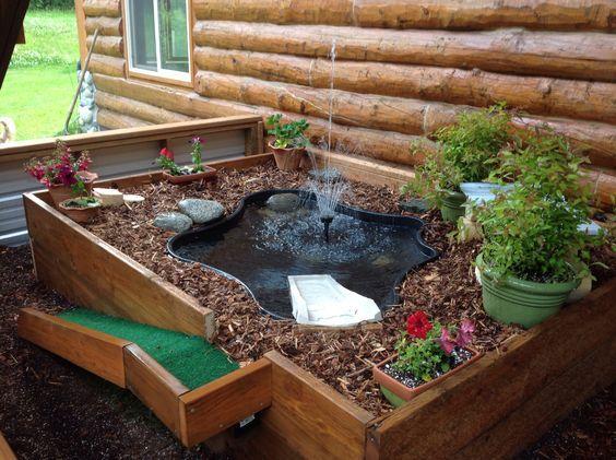 Resultado de imagem para terrario caseiro para jabuti for Peceras de jardin
