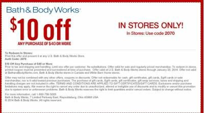 Bath And Body Works 10 Off Any Purchase 40 Or More Printablecoupons Bathandbodyworks Coupons Bath And Body Works Body Works Bath And Body