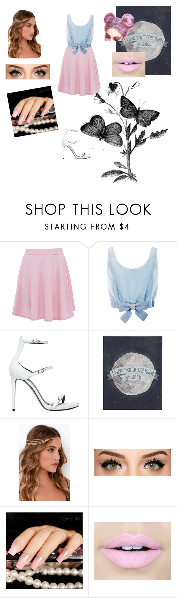 """""""Princess style"""" by carlyfaithh ❤ liked on Polyvore featuring Honor, Kendall + Kylie, LULUS and Fiebiger"""