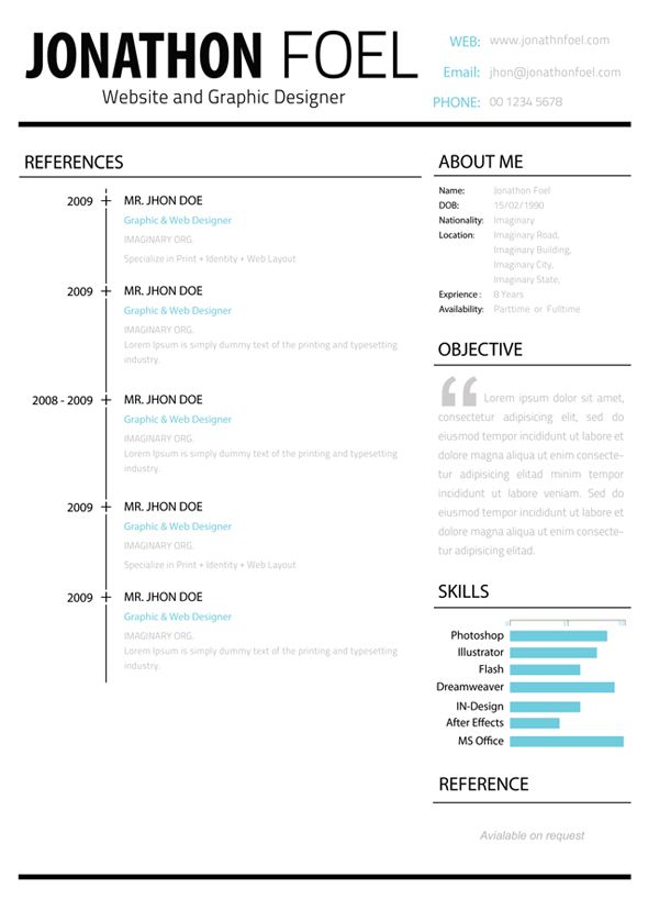 Minimalistic Multipage Resume Template Bundle Which Comes Also
