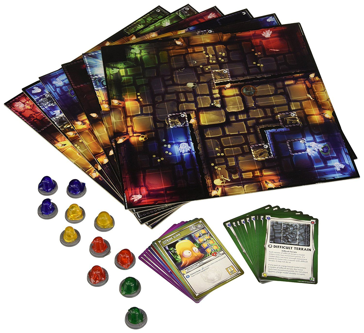 Dungeon Tiles Dungeons of Crystalia Board Game Board