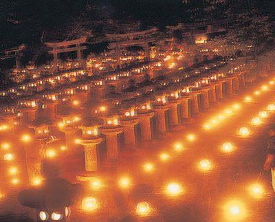 Lantern festival during Obon in August in Hagi, Yamaguchi, Japan #Japan #lantern #Hagi