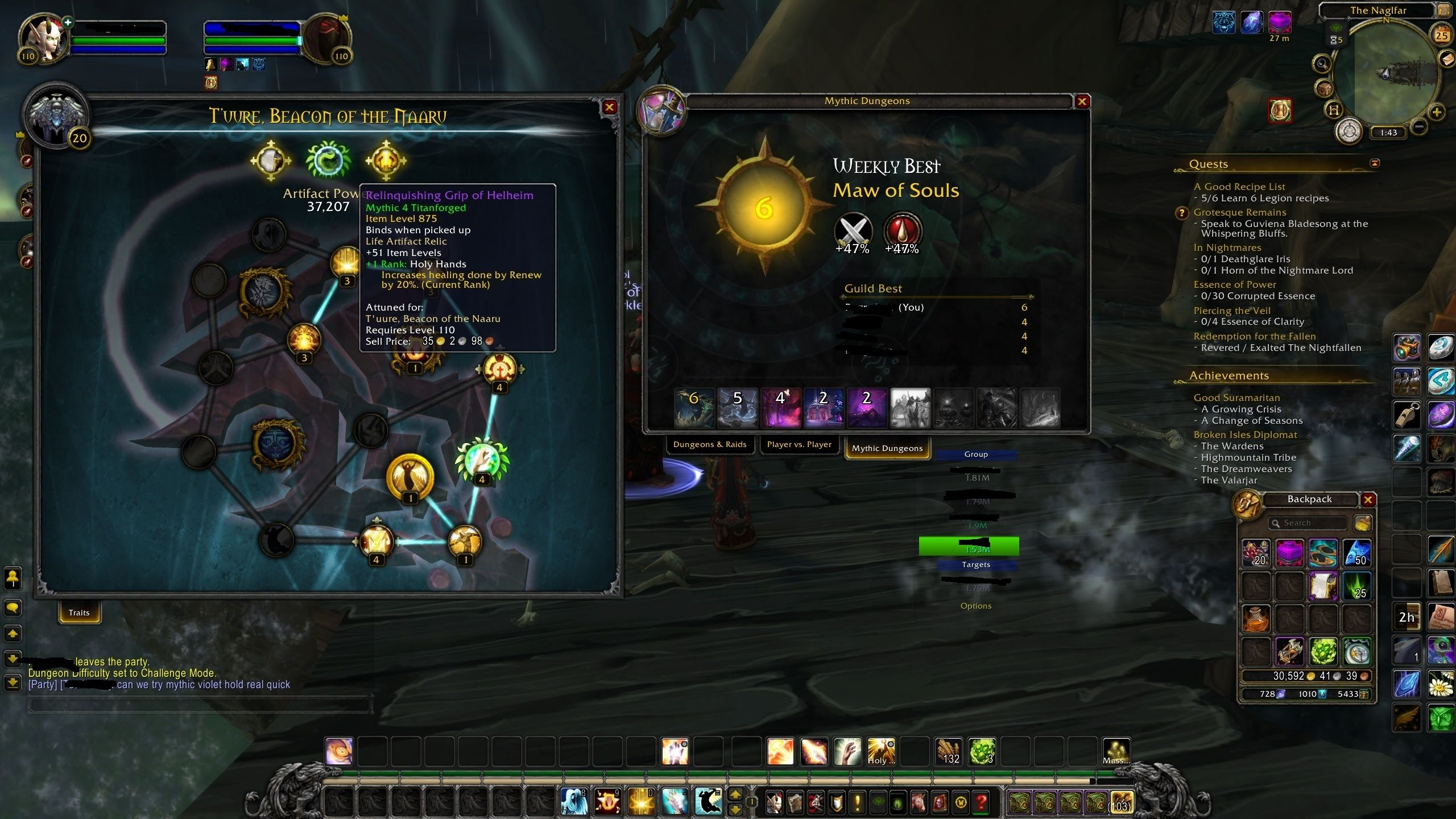 So a Holy Priest An Affliction Warlock two Mistweavers and a