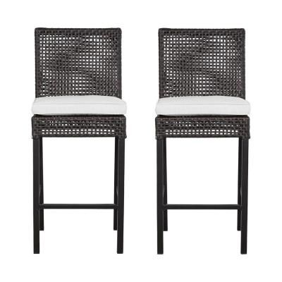Hampton Bay Fenton Patio High Dining Chair With Bare Cushion 2 Pack Dy9131 Bs B At The Home Depot
