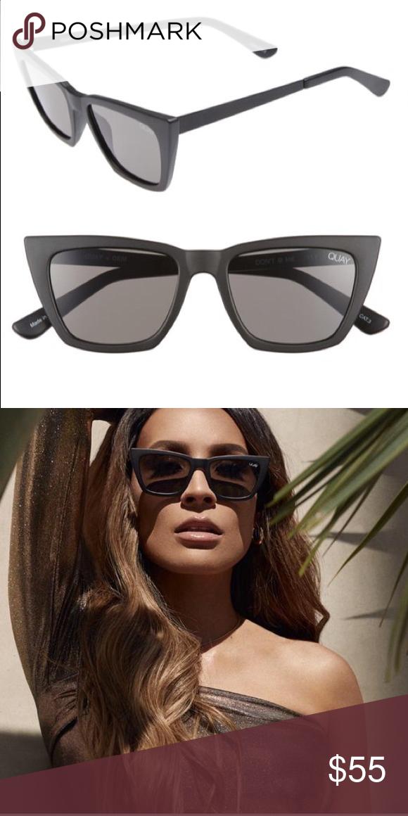 64e9a9eecd5 Quay Desi Perkins Don t   Me Cat Eye Sunglasses 😎 Black smoke ...