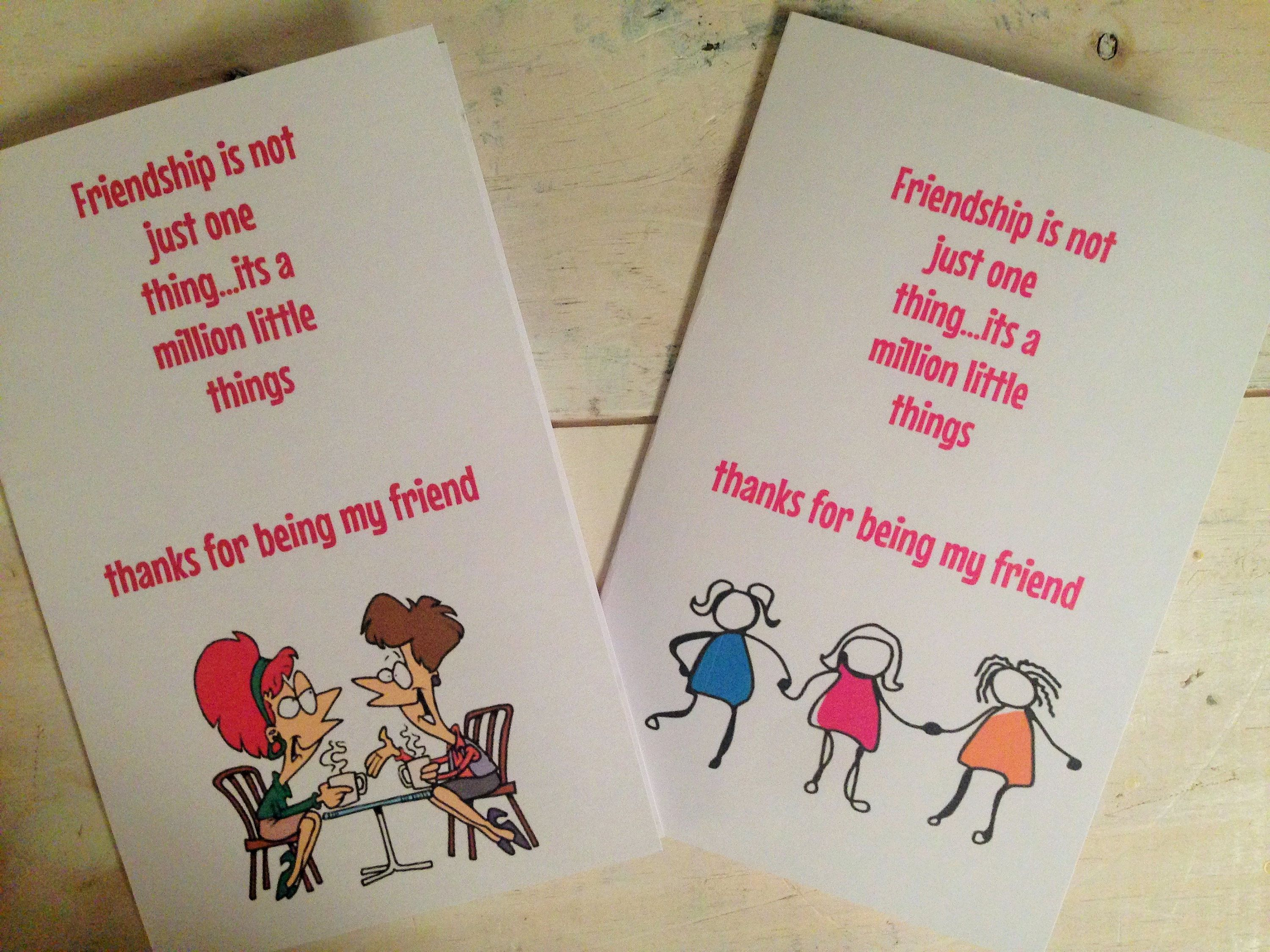 Friendship Card Best Friends Card Thank You Card Thanks For Being