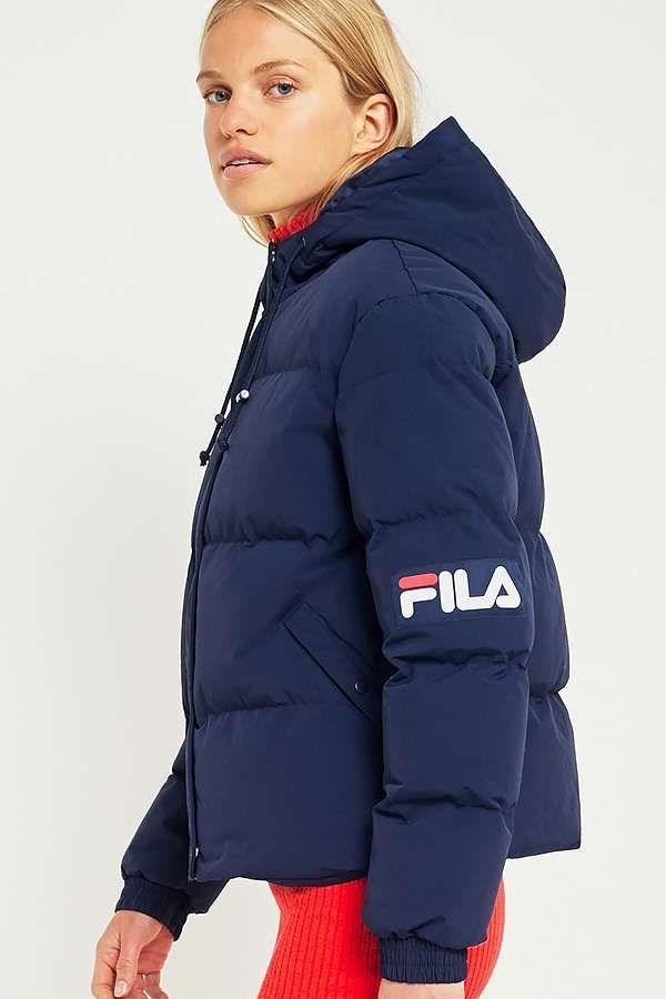 great deals 2017 best cheap cute FILA Navy Puffer Jacket | Jackets, Puffer jackets, Winter jackets