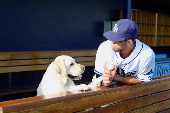 James Shields and his Yellow Lab!