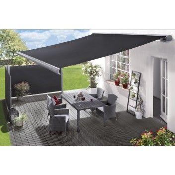 Tayskasettimarkiisi Sunfun Harmaa 3 5 X 3 M Bauhaus Balcony Shade Patio Terrazzo