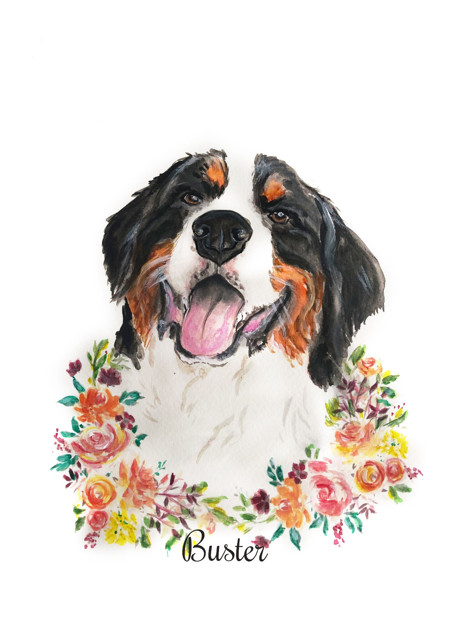 Dog Portrait From Photo Custom Pet Portrait Pet Portrait Painting