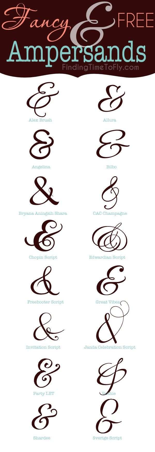 Free and fancy ampersands fonts