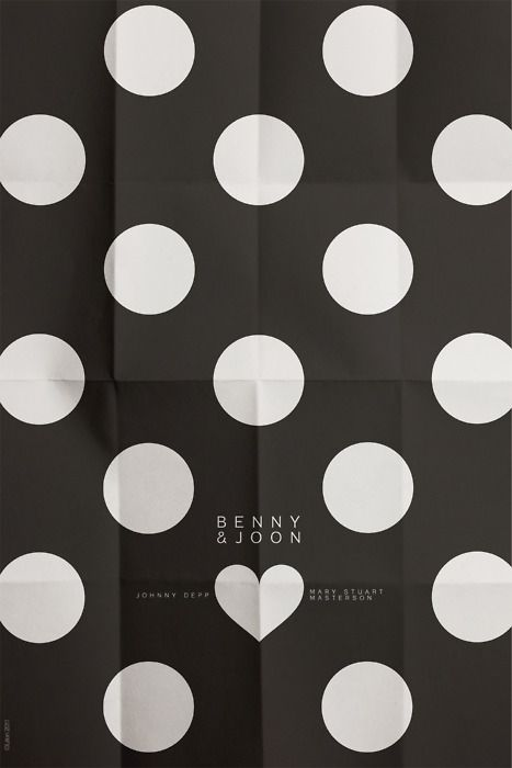 This is one of the prettiest minimalistic posters I've ever seen. The simple paper-fold effect is darling, and the little heart serves for simple contrast.