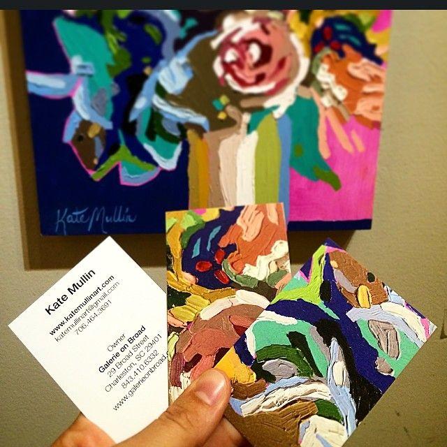 Artist business cards kate mullin art close details of my painting artist business cards kate mullin art close details of my painting on my business colourmoves
