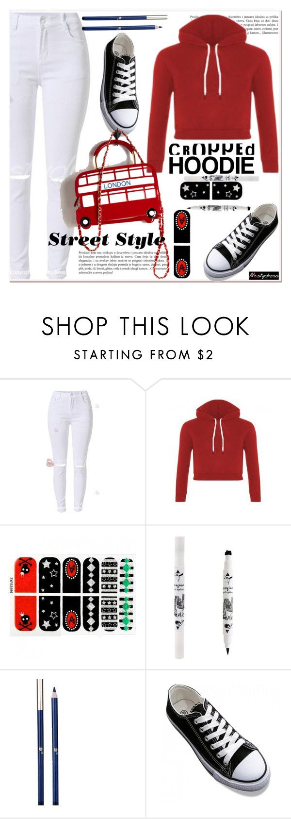 """""""Cute Trend: Cropped Hoodies 4"""" by paculi ❤ liked on Polyvore featuring nastydress and croppedhodie"""