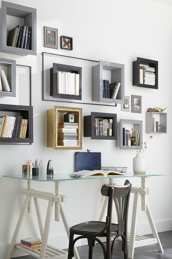 Bibliotheque Des Idees Originales Pour Ranger Ses Livres Meubles De Rangement Idee Deco Cube Rangement
