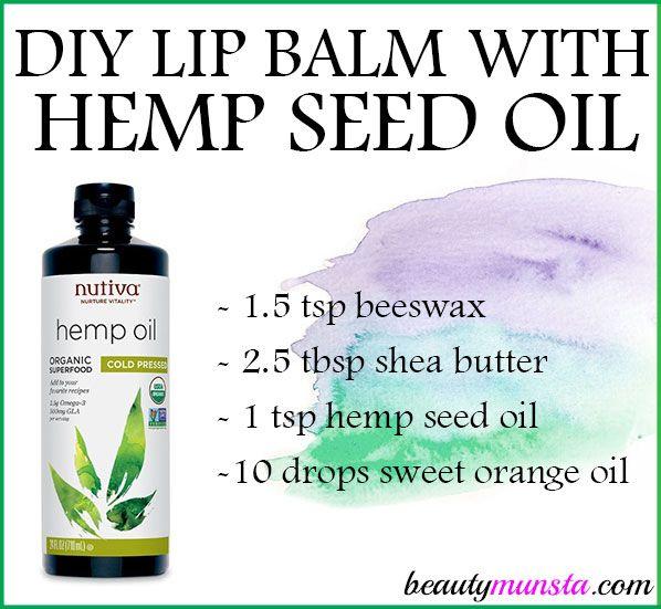 Diy Hemp Seed Oil Lip Balm Recipe Hemp Seeds Lip Balm Recipes