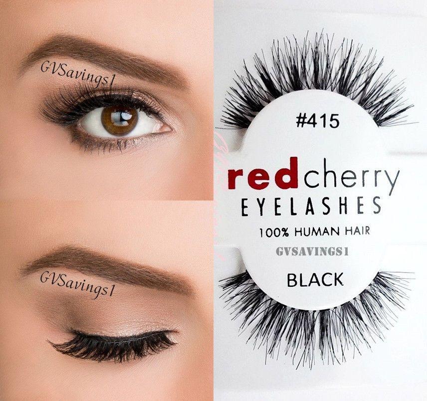 bf874963cb2 (LOT OF 3) Red Cherry #415 False Eyelashes Fake Lashes Lash Eyelash Wispy  Black #RedCherry