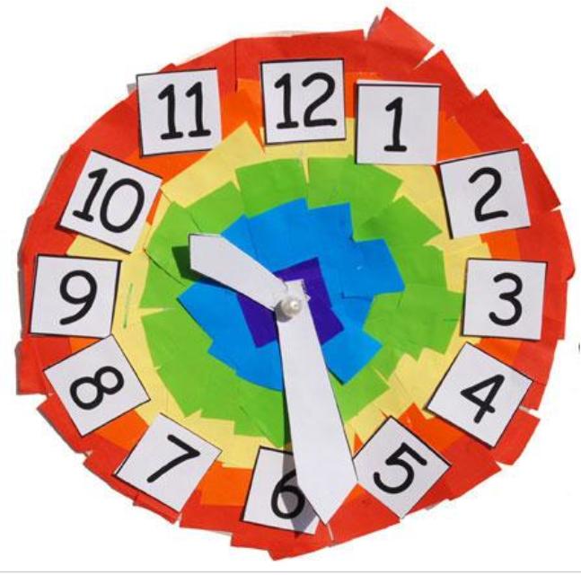 Reloj Para Ninos Como Hacerlo Con Carton Y Papel De Colores Reloj Para Ninos Hacer Un Reloj Reloj