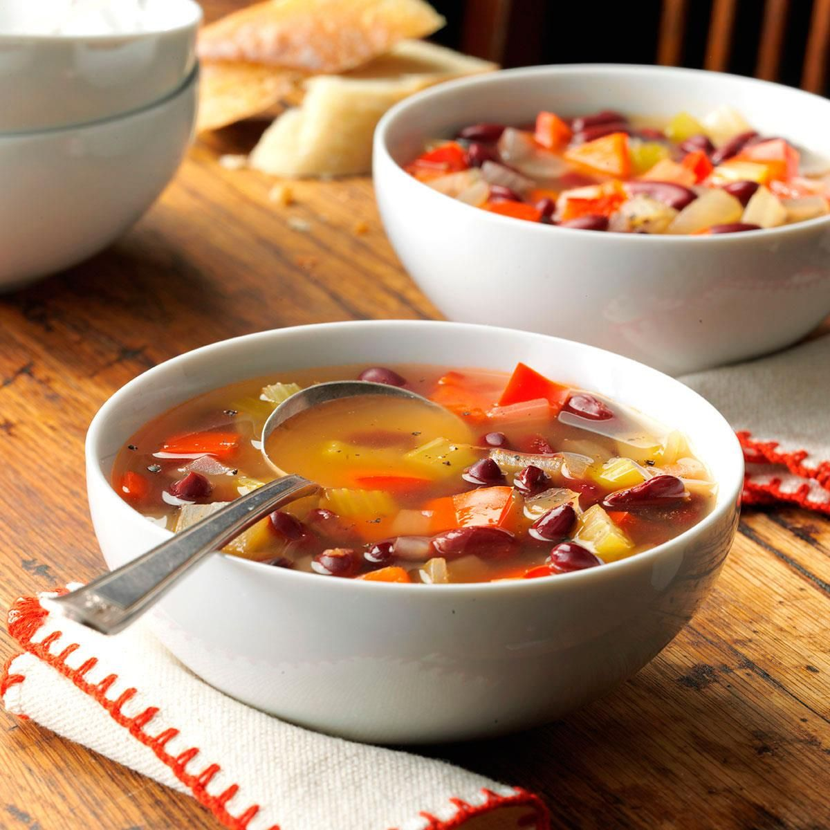 Red bean vegetable soup recipe slow cooker soup bean