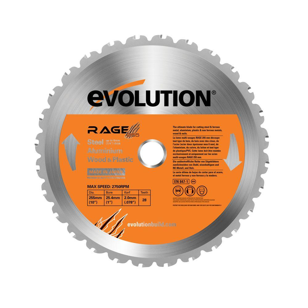 Evolution Power Tools Rage 10 In Multipurpose Replacement Blade Circular Saw Blades Table Saw Best Circular Saw