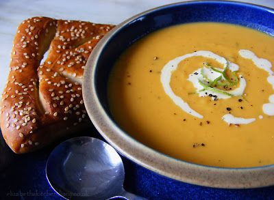 Sweet Potato, Lime & Ginger Soup (made with Thanksgiving leftovers!)