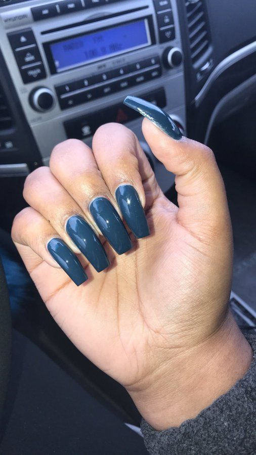 Outstanding Long Square Nails Composition - Nail Paint Design Ideas ...