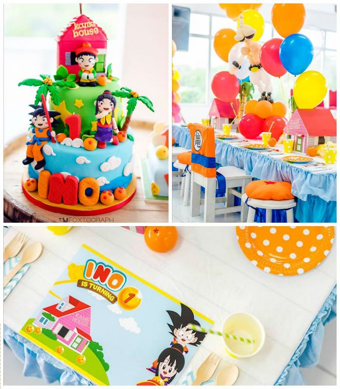 Dragon Ball Party Decorations Dragon Ball Themed Birthday Party  Kara's Party Ideas  Little