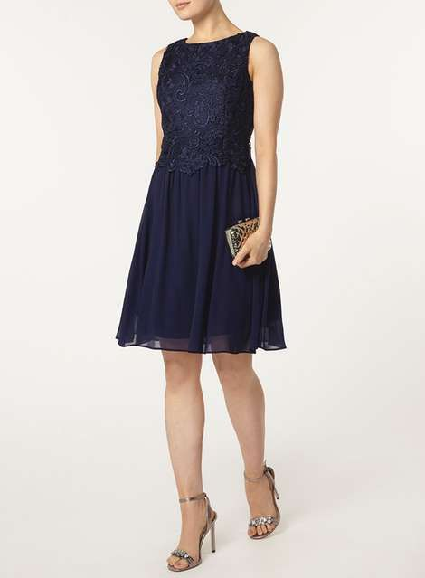 Showcase Navy Lace Body Prom Dress - View All Dresses - Dresses ...
