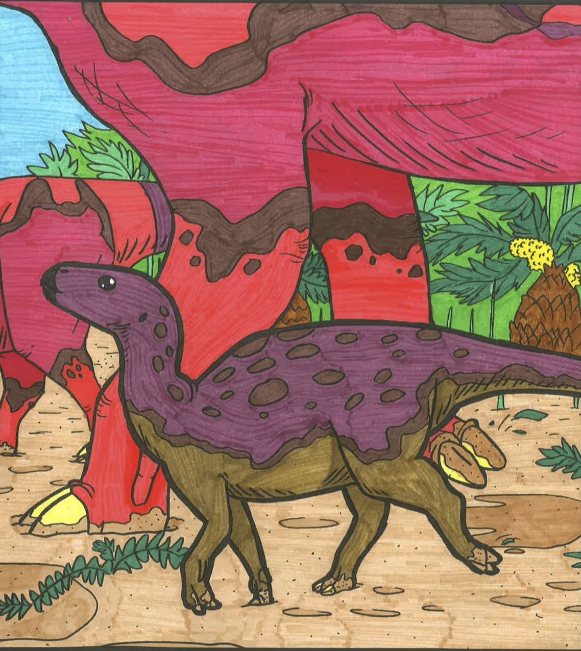 saltasaurus my colorations of dianeramic u0027s book the coloring
