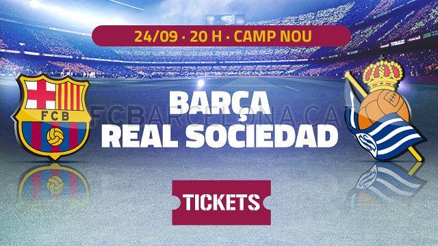 Tickets FCB - Real Sociedad #FCBarcelona #Tickets #CampNou #Game #Match