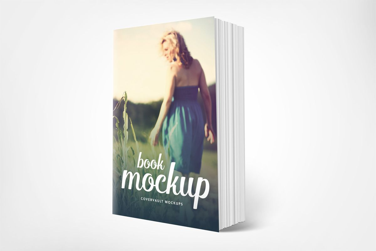 6 X 9 Standing Paperback Book Mockup Covervault Book Cover Mockup Book Cover Book Cover Design