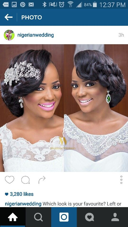 Nigerian Wedding Coiffure