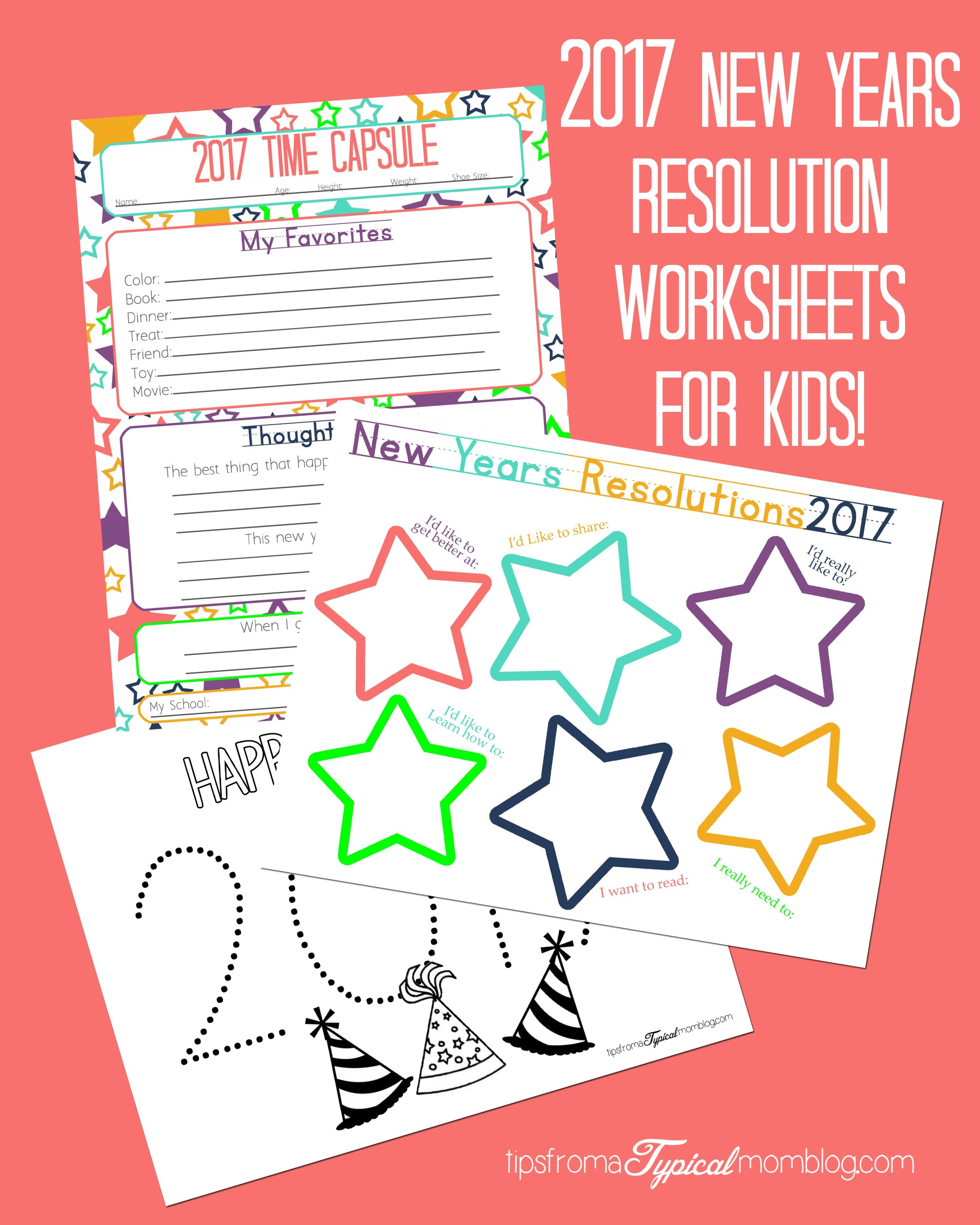 New Years Resolution Amp Time Capsule Worksheets And