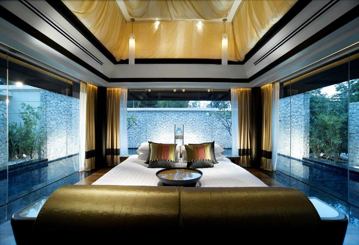 sensational bedroom decor surrounded by pool banyan tree resort  - sensational bedroom decor surrounded by pool banyan tree resort phuket