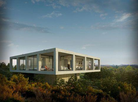 modern concrete forest home Dream Homes Pinterest