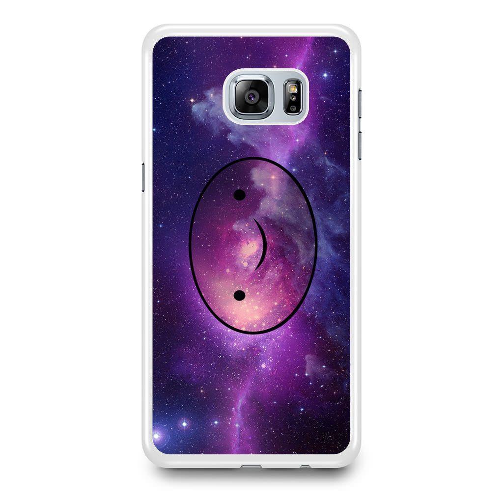 Adventure Time Finn The Human Face In Galaxy Nebula Samsung Galaxy S6 Edge Plus Case