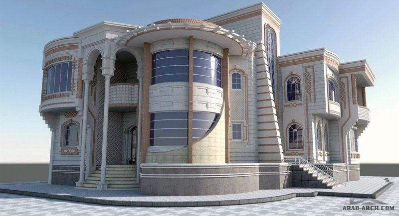 واجهات مباني وعمارات من اعمال مهندس وائل البرهمي In 2020 House Styles Mansions House