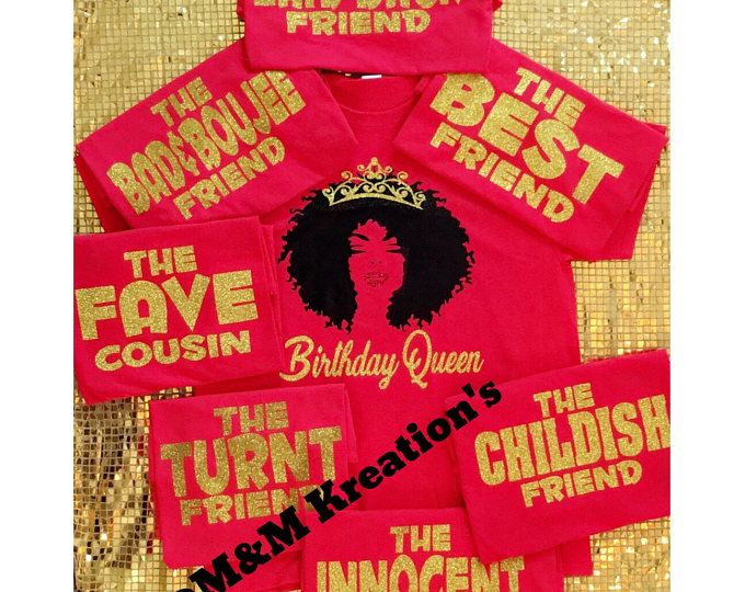 Birthday Friends Shirt Queen Squad