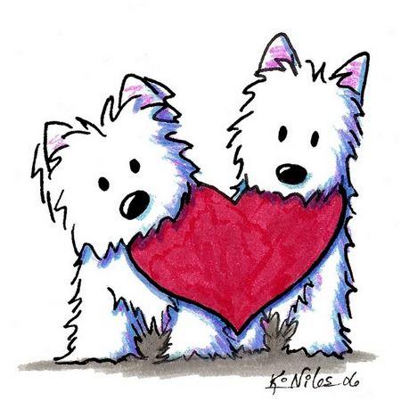 valentine s day westie kiniart pinterest westies dog and clip art rh pinterest ca clipart westie dogs