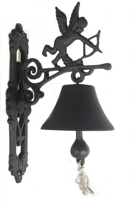 Cupid Garden Bell This Is A Beautiful Cast Iron Cupid Bell Available In Black Or Rust Effect Rustic Gardens Cast Iron Door Furniture