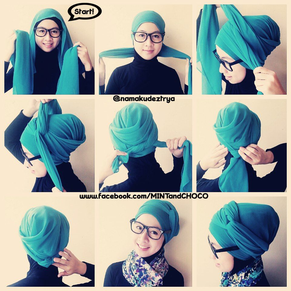 Turban Tutorial Naturally Shawna Pinterest Tutorials Hijab