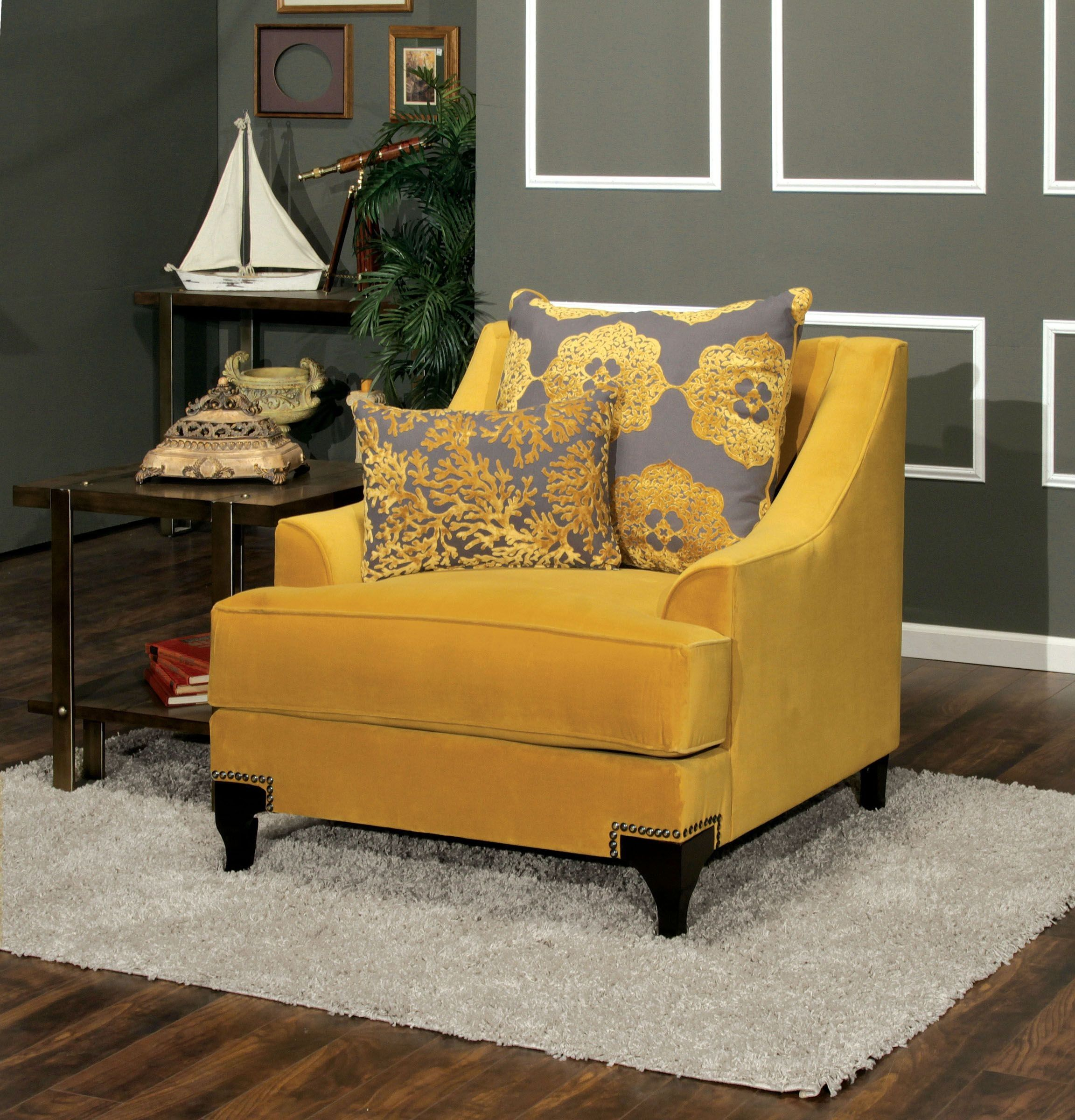 Viscontti Gold Chair  Sofa and loveseat set, Upholstered accent