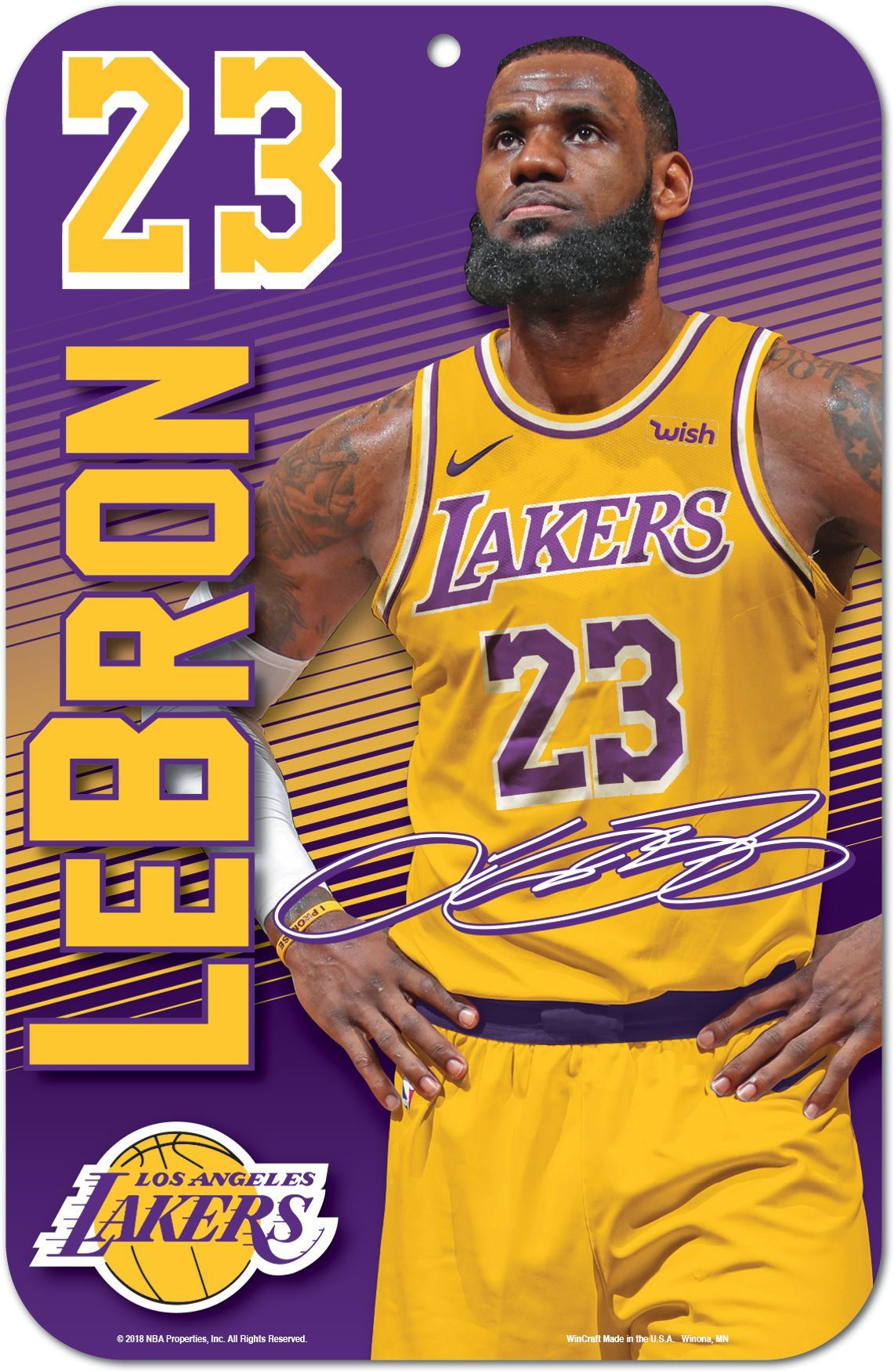 WinCraft Los Angeles Lakers LeBron James Sign  07d91e434