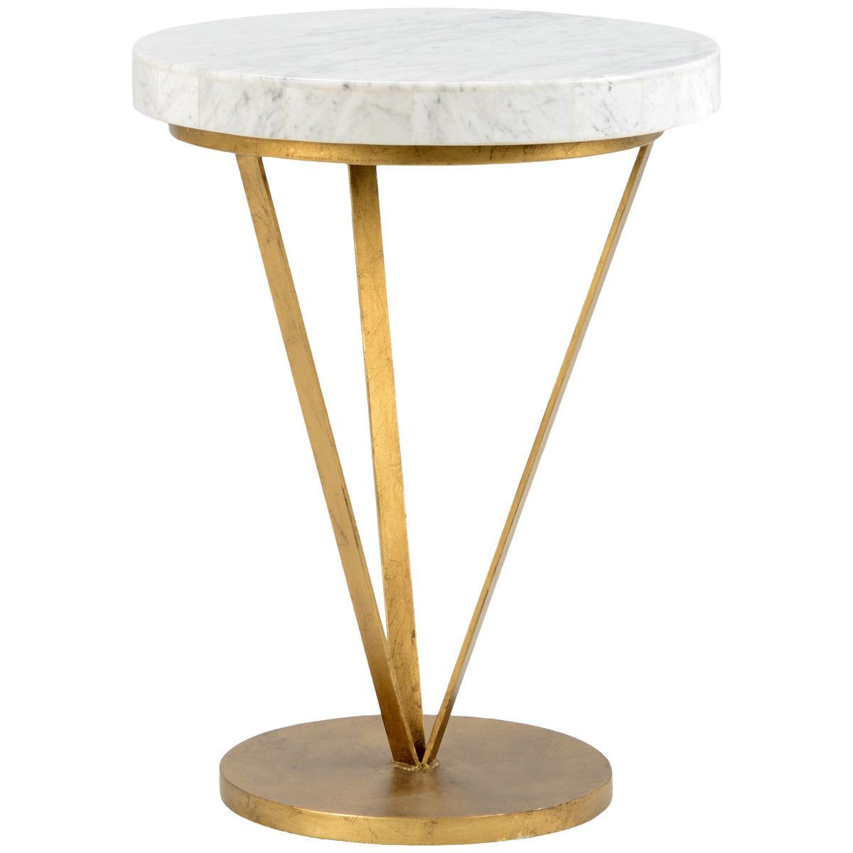 Chelsea House Antique Gold Trifold Table