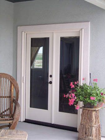 double french doors, want this from the master bedroom leading to ...