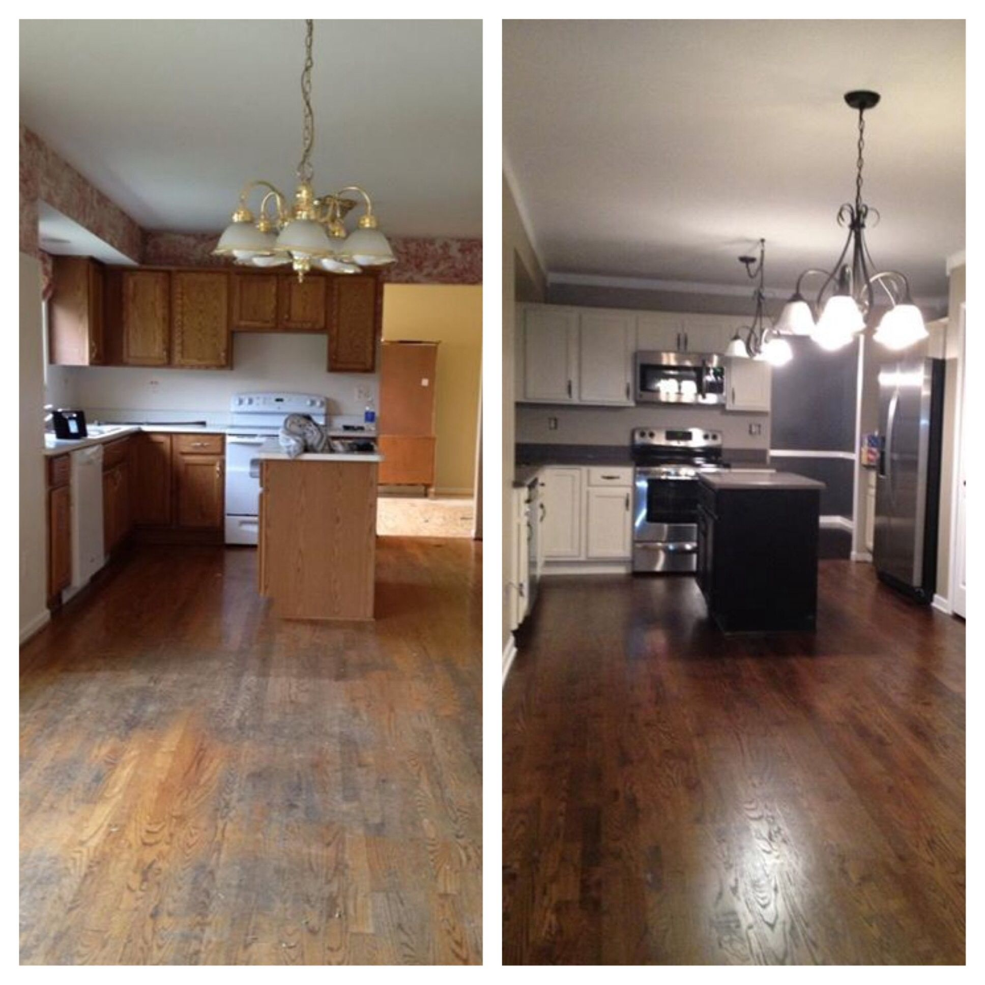 Dark Beige Kitchen Cabinets: Hard Work Pays Off! Cabinets Are Painted Creme By Sherwin