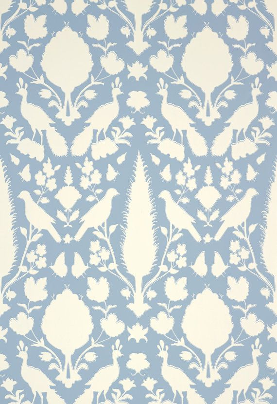Wallpaper Schumacher CHENONCEAU Double Rolls by SouthernShadesHome