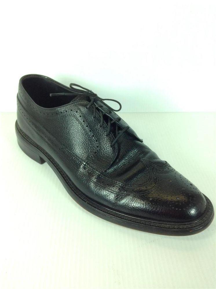 Vintage Benchmark Men s Wingtip Dress Shoes Size 12 Black  Benchmark   DressShoes 432ea8cce