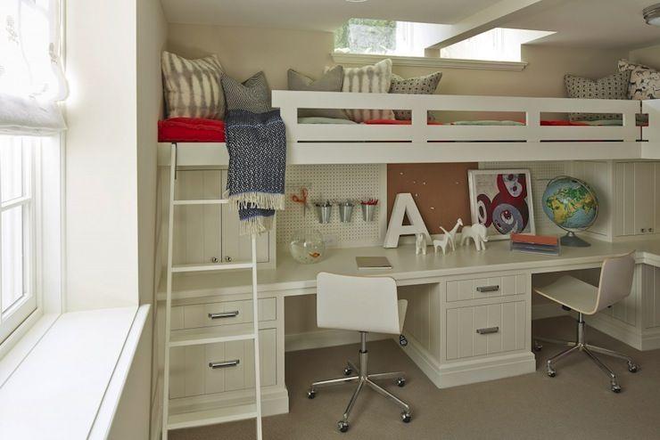 Martha O Hara Interiors Boy S Rooms Benjamin Moore Alaskan Skies Skylight Skylight Over Bunkbeds Bunk Bed Bunk Bed With Desk Loft Bed Kids Bunk Beds